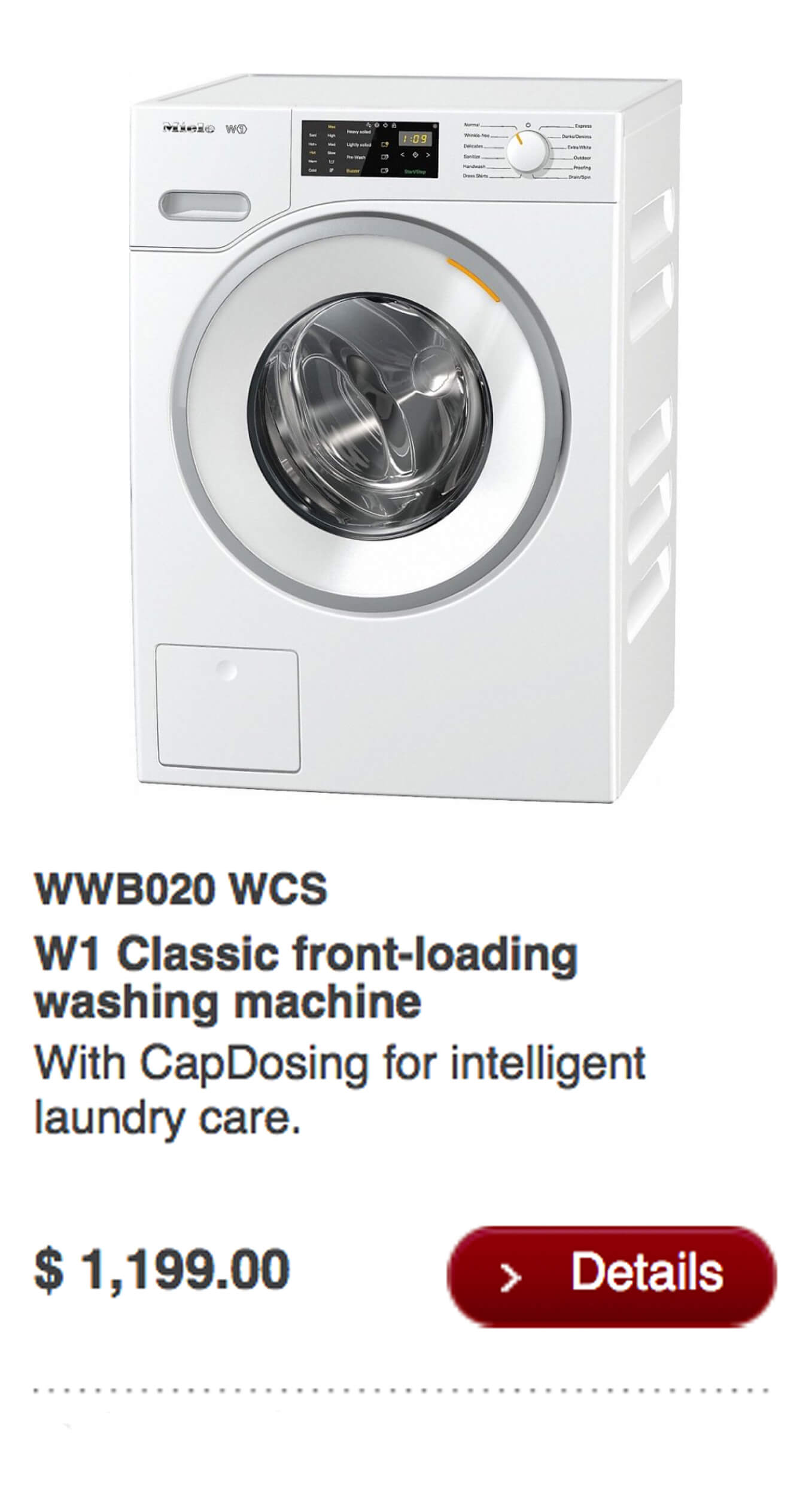 W1 Classic Front-Loading Washing Machine
