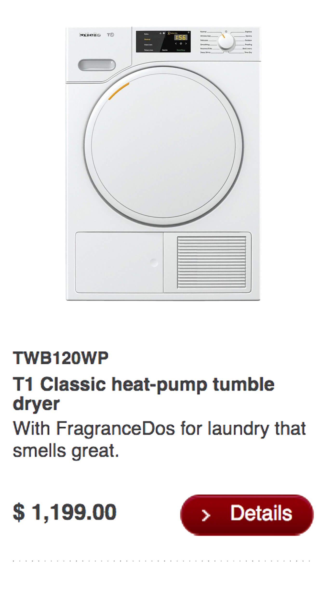 T1 Classic Heat-Pump Tumble Dryer